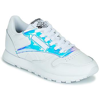 鞋子 女士 球鞋基本款 Reebok Classic CL LTHR 白色 /  iridescent
