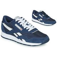 鞋子 球鞋基本款 Reebok Classic CL NYLON 海蓝色 / 白色
