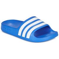 鞋子 男孩 拖鞋 adidas Performance 阿迪达斯运动训练 ADILETTE AQUA K 蓝色 / 白色
