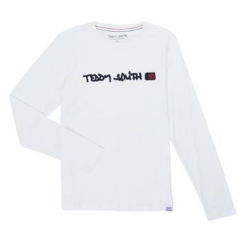 衣服 男孩 长袖T恤 Teddy Smith 泰迪 史密斯 CLAP 白色