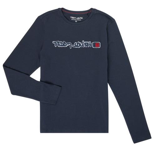 衣服 男孩 长袖T恤 Teddy Smith 泰迪 史密斯 CLAP 海蓝色