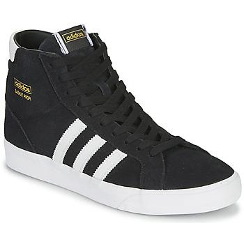 鞋子 高帮鞋 Adidas Originals 阿迪达斯三叶草 BASKET PROFI 黑色