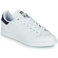 鞋子 球鞋基本款 Adidas Originals 阿迪达斯三叶草 STAN SMITH VEGAN 白色 / 蓝色