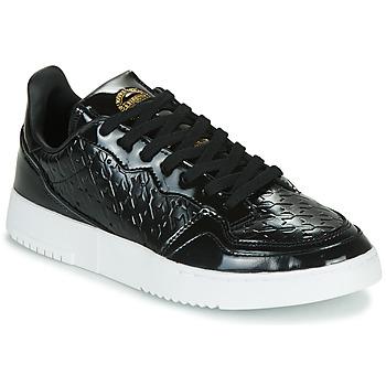 鞋子 女士 球鞋基本款 Adidas Originals 阿迪达斯三叶草 SUPERCOURT W 黑色 / 漆皮