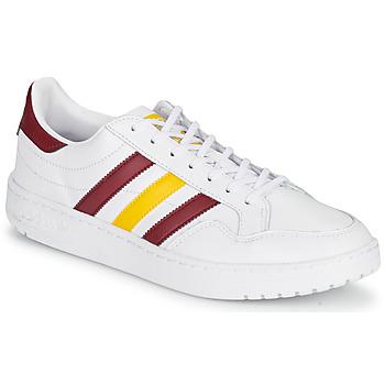 鞋子 球鞋基本款 Adidas Originals 阿迪达斯三叶草 TEAM COURT 白色 / 波尔多红 / 黄色