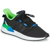 鞋子 男士 球鞋基本款 Adidas Originals 阿迪达斯三叶草 U_PATH RUN 黑色 / 绿色