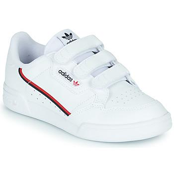 鞋子 儿童 球鞋基本款 Adidas Originals 阿迪达斯三叶草 CONTINENTAL 80 CF C 白色