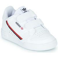 鞋子 儿童 球鞋基本款 Adidas Originals 阿迪达斯三叶草 CONTINENTAL 80 CF I 白色