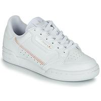 鞋子 女孩 球鞋基本款 Adidas Originals 阿迪达斯三叶草 CONTINENTAL 80 J 白色 /  iridescent