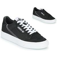 鞋子 儿童 球鞋基本款 Adidas Originals 阿迪达斯三叶草 CONTINENTAL VULC J 黑色