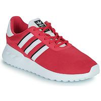 鞋子 女孩 球鞋基本款 Adidas Originals 阿迪达斯三叶草 LA TRAINER LITE C 玫瑰色