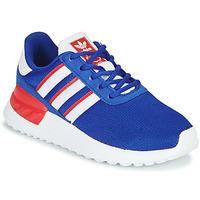 鞋子 男孩 球鞋基本款 Adidas Originals 阿迪达斯三叶草 LA TRAINER LITE C 蓝色