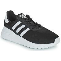 鞋子 儿童 球鞋基本款 Adidas Originals 阿迪达斯三叶草 LA TRAINER LITE C 黑色 / 白色
