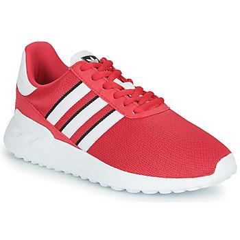 鞋子 女孩 球鞋基本款 Adidas Originals 阿迪达斯三叶草 LA TRAINER LITE J 玫瑰色