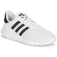 鞋子 儿童 球鞋基本款 Adidas Originals 阿迪达斯三叶草 LA TRAINER LITE J 白色 / 黑色