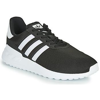 鞋子 儿童 球鞋基本款 Adidas Originals 阿迪达斯三叶草 LA TRAINER LITE J 黑色 / 白色