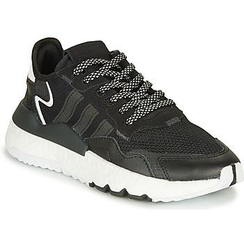 鞋子 儿童 球鞋基本款 Adidas Originals 阿迪达斯三叶草 NITE JOGGER J 黑色