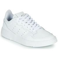 鞋子 儿童 球鞋基本款 Adidas Originals 阿迪达斯三叶草 SUPERCOURT J 白色