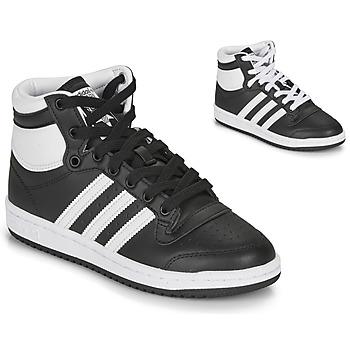鞋子 儿童 球鞋基本款 Adidas Originals 阿迪达斯三叶草 TOP TEN J 黑色 / 白色