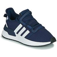 鞋子 男孩 球鞋基本款 Adidas Originals 阿迪达斯三叶草 U_PATH RUN J 海蓝色 / 白色