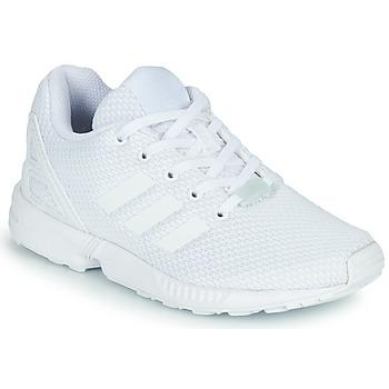 鞋子 儿童 球鞋基本款 Adidas Originals 阿迪达斯三叶草 ZX FLUX C 白色