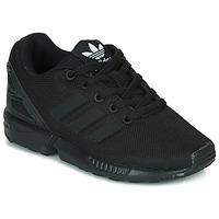 鞋子 儿童 球鞋基本款 Adidas Originals 阿迪达斯三叶草 ZX FLUX C 黑色