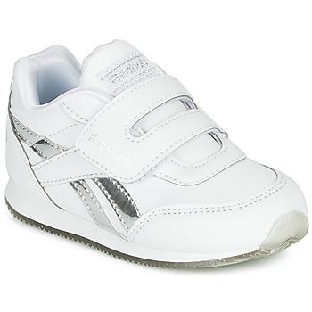 鞋子 女孩 球鞋基本款 Reebok Classic REEBOK ROYAL CLJOG 白色 / 银色