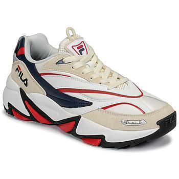 鞋子 男士 球鞋基本款 Fila RUSH 白色 / 米色 / 红色