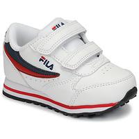 鞋子 儿童 球鞋基本款 Fila ORBIT VELCRO INFANTS 白色 / 蓝色