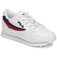 鞋子 儿童 球鞋基本款 Fila ORBIT LOW KIDS 白色 / 蓝色