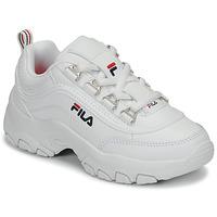 鞋子 女孩 球鞋基本款 Fila STRADA LOW KIDS 白色