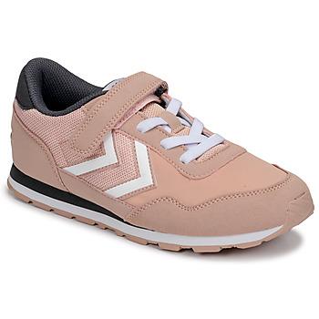 鞋子 女孩 球鞋基本款 Hummel REFLEX JR 玫瑰色
