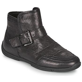 鞋子 女士 短筒靴 Geox 健乐士 AGLAIA 黑色