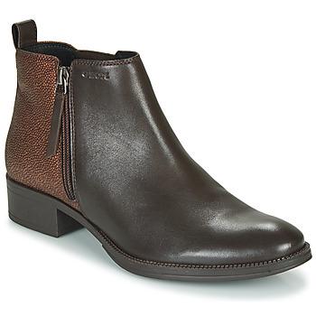 鞋子 女士 短靴 Geox 健乐士 LACEYIN 棕色