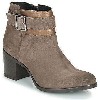 鞋子 女士 短靴 Geox 健乐士 NEW ASHEEL 米色