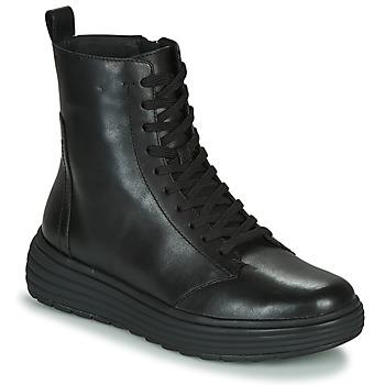 鞋子 女士 短筒靴 Geox 健乐士 PHAOLAE 黑色