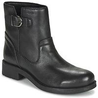 鞋子 女士 短筒靴 Geox 健乐士 RAWELLE 黑色