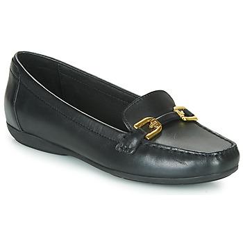 鞋子 女士 皮便鞋 Geox 健乐士 ANNYTAH MOC 黑色