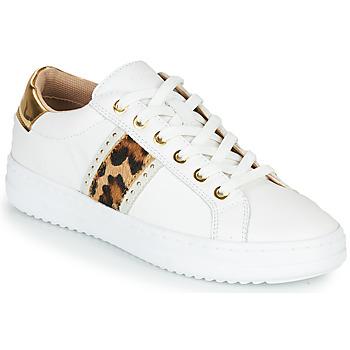 鞋子 女士 球鞋基本款 Geox 健乐士 PONTOISE 白色 / Leopard