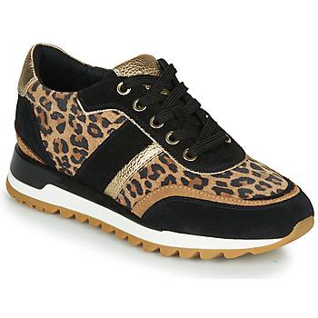 鞋子 女士 球鞋基本款 Geox 健乐士 TABELYA Leopard / 黑色