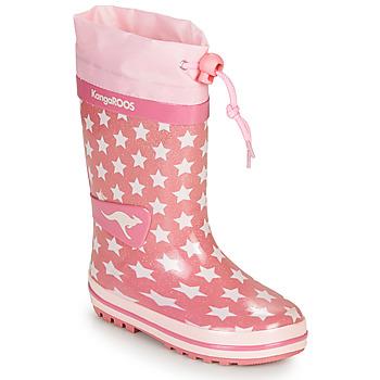鞋子 女孩 雨靴 Kangaroos K-RAIN 玫瑰色