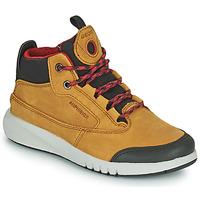鞋子 男孩 短筒靴 Geox 健乐士 AERANTER ABX 驼色