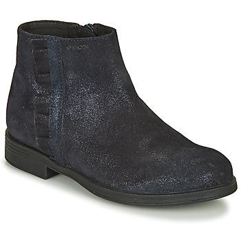 鞋子 女孩 短筒靴 Geox 健乐士 AGGATA 海蓝色
