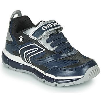 鞋子 男孩 球鞋基本款 Geox 健乐士 ANDROID 海蓝色 / 银色