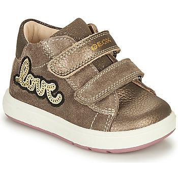 鞋子 女孩 短筒靴 Geox 健乐士 BIGLIA 棕色