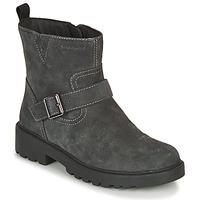 鞋子 女孩 短筒靴 Geox 健乐士 CASEY WPF 灰色