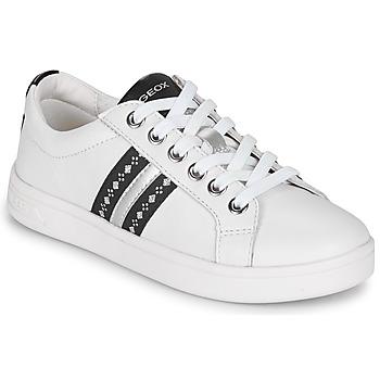 鞋子 女孩 球鞋基本款 Geox 健乐士 DJROCK 白色
