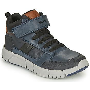 鞋子 男孩 短筒靴 Geox 健乐士 FLEXYPER 海蓝色 / 黑色