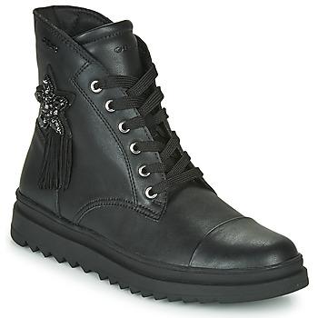 鞋子 女孩 短筒靴 Geox 健乐士 GILLYJAW 黑色