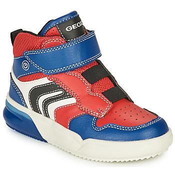 鞋子 男孩 球鞋基本款 Geox 健乐士 GRAYJAY 红色 / 蓝色